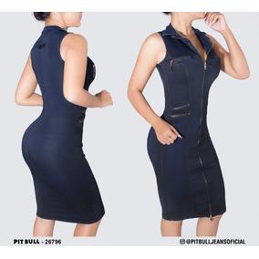 Vestido Feminino Midi Pit Bull Jeans Lançamento 26796 df198569f26