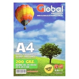 Papel Fotografico Global Glossy Brillante 200gr