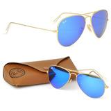 Óculos Ray-ban Aviador Espelhado Original Masculino Feminino 60f222f20d