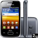 Smartphone Samsung Galaxy Y Duos Dual 3mp Preto (vitrine)