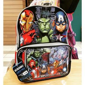 Marvel - Mochila Escolar Con Lonchera De Los Avengers