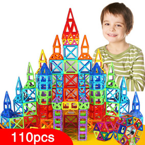 Modelo De Conjunto De Construção Magnética De 110 Peças