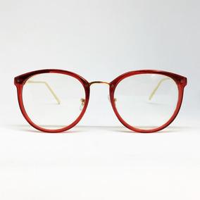 Armação De Óculos Luxo Redonda Haste De Metal - Várias Cores. R  120 1c0f914182