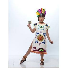 Vestido Traje Tipico De Azteca Regional Tipico Aztecas Manta