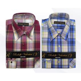 Camisa Caballero Talla Extra Cuadro Grande Rodolfo Valentini