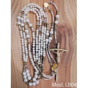 Lazo De Boda Matrimonial De Perlas Y Cristales Vintage