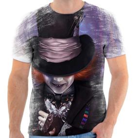 Camiseta Camisa Chapeleiro Maluco Johnny Depp Alice 4 04fc597be78