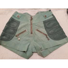 Short Lindo Em Couro E Antílope, Cintura 76cm , Quadril 110