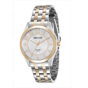dfeee424f7c Relogio Seculus Misto - Relógios De Pulso no Mercado Livre Brasil