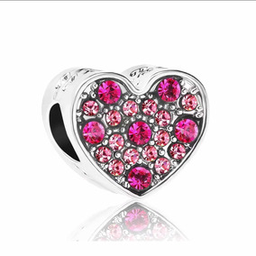 Charm Pandora Corazón Dije Rosa Envío Gratis
