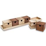 Ikee Design Caja De Te De Madera Organizador De Almacenamien