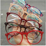 7441e540e7326 Óculos Armação De Grau Redondo Round Geek Acetato Unissex