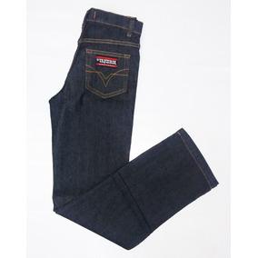 Calça Infantil Jeans Os Vaqueiros Menino Country Preta
