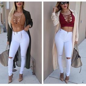a5344963e5e Calca Cos Alto Sal Pimenta - Calças Jeans Feminino Branco no Mercado ...
