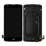 Frontal Display Lcd Touch Lg K8 K350 K350ds Com Aro Preto
