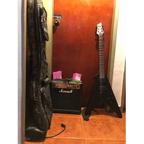Schecter Custom V-1 Con Amplificador Marshall 15 Watts