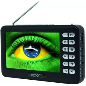 Mini Tv Digital Portátil Hd Tela 4.3 Rádio Fm