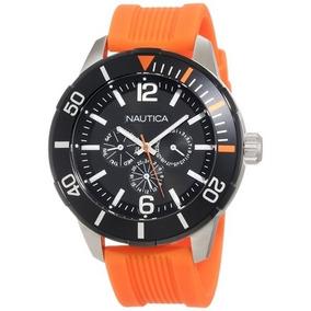 e1bd1eb834f Relogio Nautica N14508g Pulseira Laranja - Relógios no Mercado Livre ...