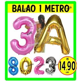 Balao De Numero Gigante Prata - Festas no Mercado Livre Brasil 44684a163f