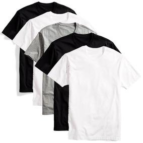Camisa Lisa Malha 100% Algodão Atacado Todas As Cores Kit 8 83e02eeb12da8