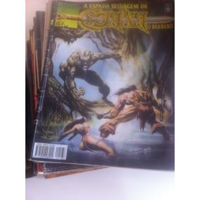 A Espada Selvagem De Conan O Bárbaro | Coleção Com 82 Gibis