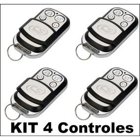 Kit 4 Controle Remoto Aço Escovado 433mhz