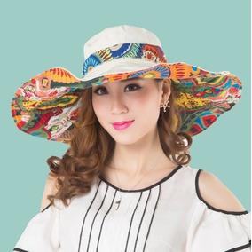 Sombrero Playa Alberca Sol Dos Vistas Tribal Envio Gratis