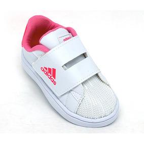 Tenis Adidas Infantil Branco Com Dourado - Calçados c380af66a642d