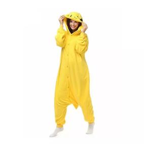 Fantasia Pijama Macacao Pelucia Pokemon Pikachu - 10-25 Dias 4fb36a3f24963