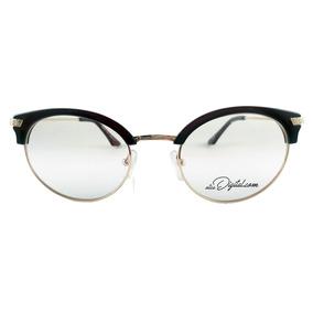 Armação De Óculos De Grau Feminino Gatinho Marrom Mam005 · R  99 90 15e4920bd1