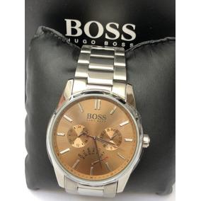 Reloj Hugo Boss Dial Cafe Nuevo Y Original