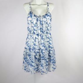 American Eagle Vestido Azul Con Blanco 6 Msrp $720