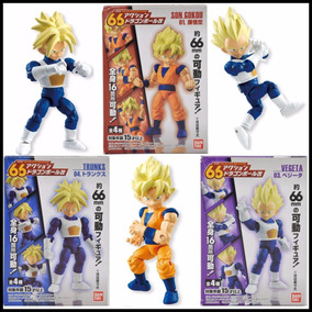 Goku Vegeta Trunks Articulados Kit Dragon Ball 66mm Bandai