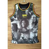 Camiseta Regata Basquete Chronic Jamaica Roots Bob Marley