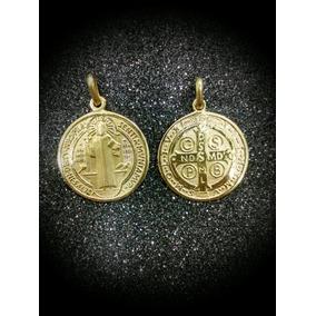 eca0aeb9fcc Medalla De San Benito Oro - Dijes y Medallas Oro Sin Piedras en ...