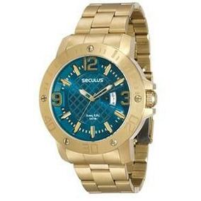 Relógio Masculino Analógico Seculus 28520gpsvda3 - Dourado