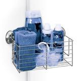 Esquinero Para Shampoo Baño Jabon Canasta Base Cromada