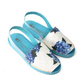 Sandália Avarca Botânica Hortência - Cup Shoes