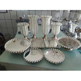 Kit Vasos E Bandejas 10 Peças+ Espelhos Envio Imediato