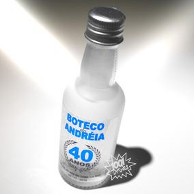35 Mini Garrafas Foscas Para Cha De Bebe Vodka 50ml V02