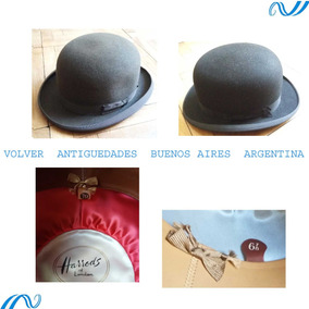 2 Antiguos Bombines Sombrero Harrods London 6 7 8 Excelente 3721db10224
