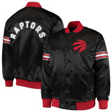 Toronto Raptors Starter Black The Draft Pick Varsity Satin