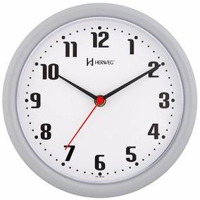 4568c0cc4a1 6102 - Relógio De Parede Herweg Original Novo Branco + Nf
