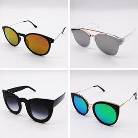 Kit C 5 Óculos Femininos Atacado Blogueira Espelhado Gato d5e980836c