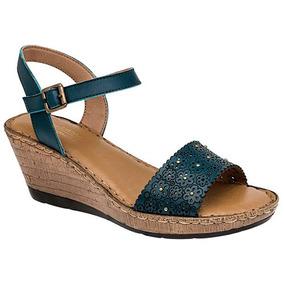 cdbc2ffb Zapatos De Plataforma Con Tirantes Otros Tacones - Zapatos para Niñas Azul  en Mercado Libre México