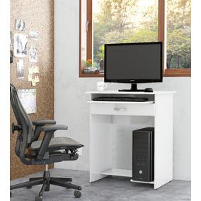 Mesa De Computador Prática Com Gaveta Branco