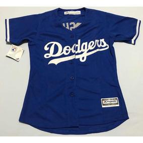 Camisa Feminina Los Angeles Dodgers Kershaw 22 Pront Entrega c0503f9d6f5