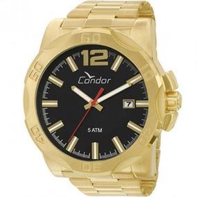 Relógio Condor Masculino Pulseira Dourada