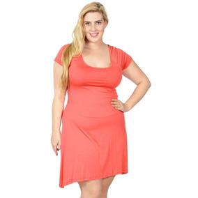 Xl - Coral - Tamaño Más Vestido De Vestido De Verano Mu-2998
