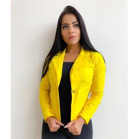 3eddfb777d Fabricaçao - Blazer para Feminino Amarelo no Mercado Livre Brasil